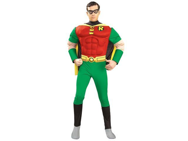 Men's Deluxe Robin Muscle Chest Costume
