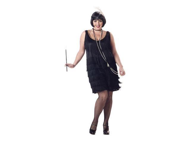 Fashion Flapper Plus Size Womens Costume