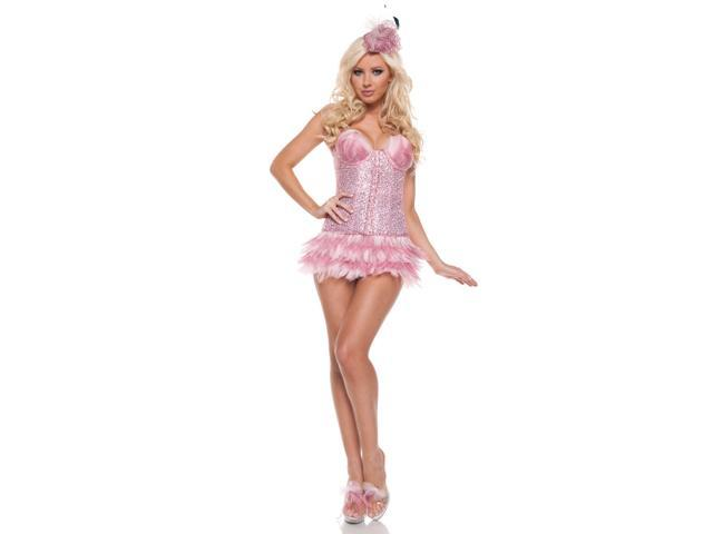 Women's Sexy Flamingo Deluxe Costume