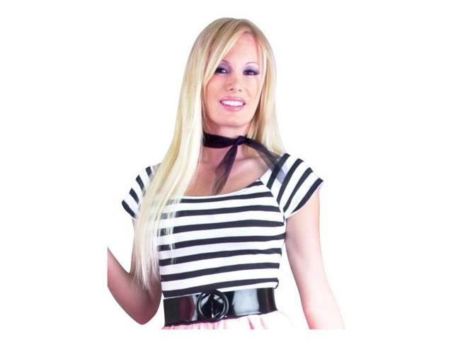 Adult Black and White 50s Top Costume