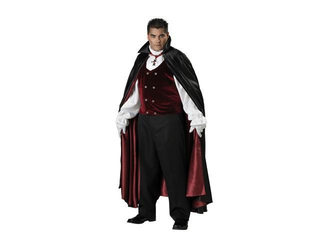 Gothic Vampire Plus Men's Costume