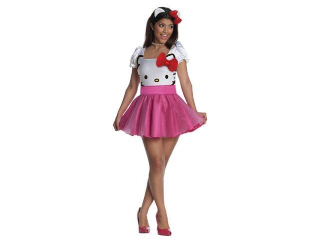 Women's Sexy Hello Kitty Tutu Costume