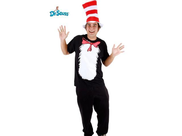 Cat in the Hat Short Sleeve Set Costume for Men