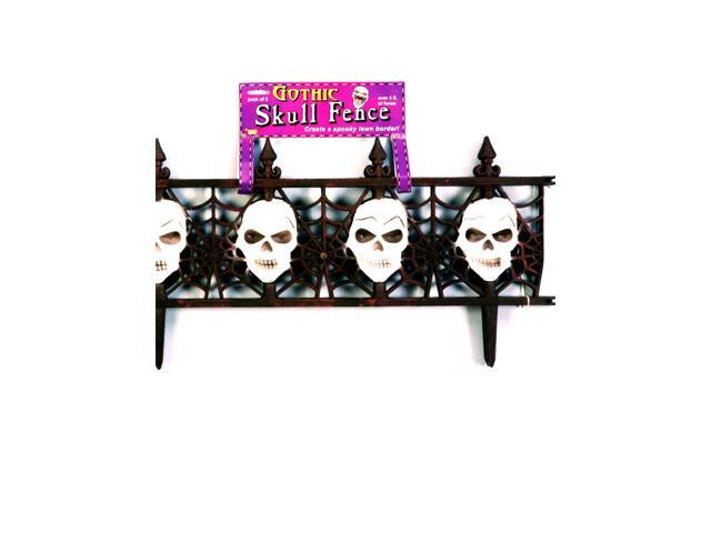 Gothic Fence with Skulls