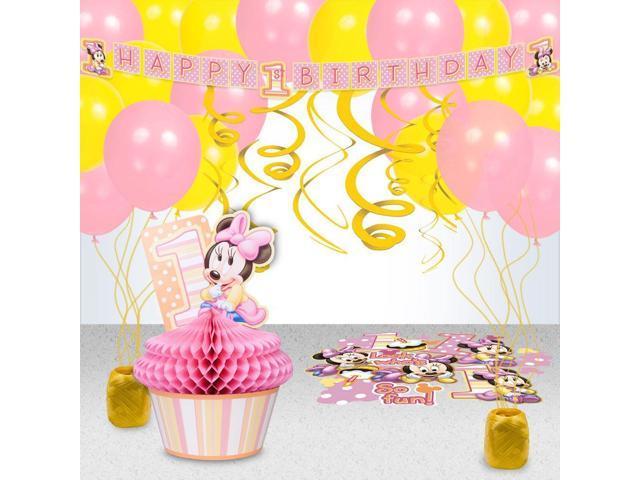 Minnie 1st Birthday Decoration Kit - Party Supplies-Newegg.com