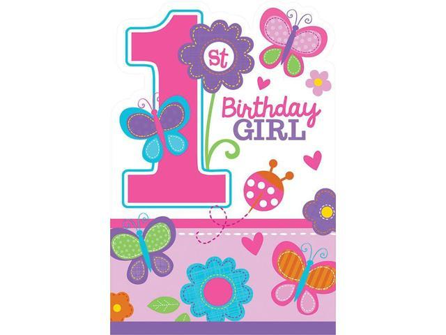 Sweet 1st birthday girl invitations 8 pack party for 1st birthday party decoration packs