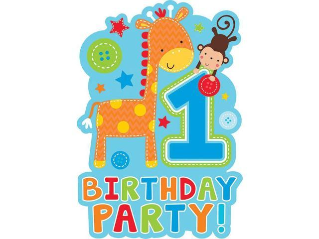 One wild boy 1st birthday invitations 8 pack party for 1st birthday party decoration packs
