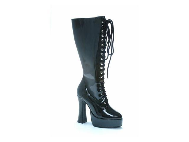 Patent Leather Black Lace Boots