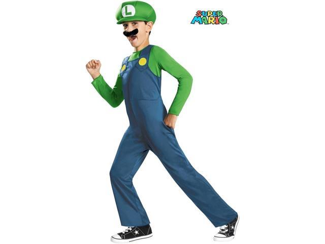 Super Mario Bros Luigi Costume for Boys