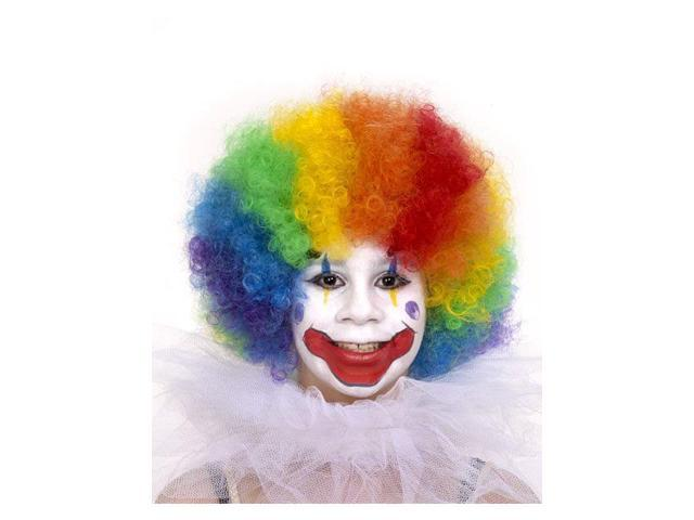 Kid's Multicolored Clown Wig