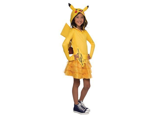 Pokemon: Girls Pikachu Hoodie Dress - Large
