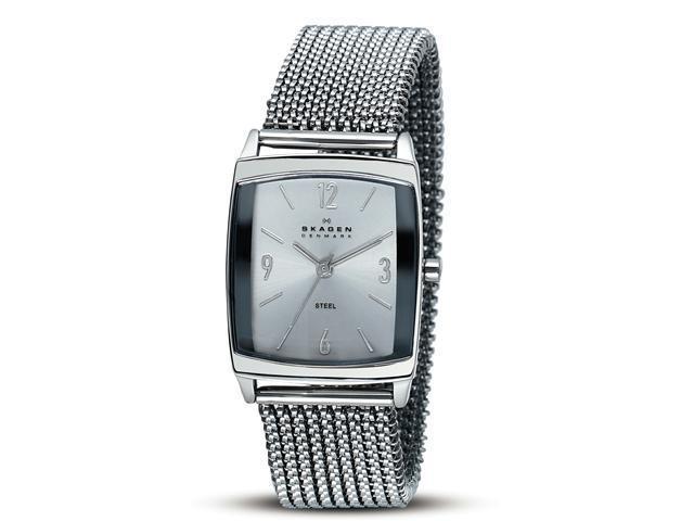 Skagen Stretch Silver Dial Stainless Steel Ladies Watch 691SSS1