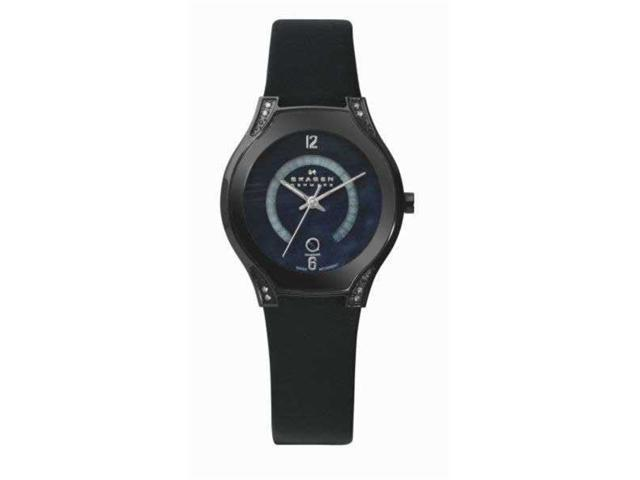 Skagen Denmark Black Label Black Dial Ladies Watch 886SBLB