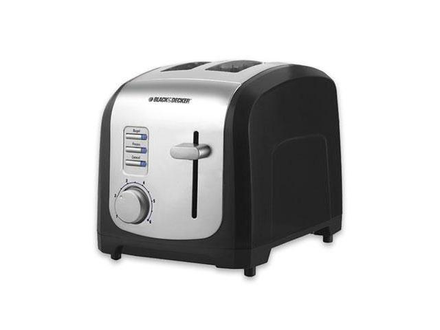 B&D 2 Slice Toaster Black