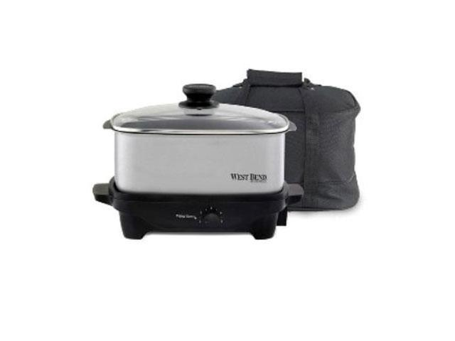 West Bend 84915 Oblong Slow Cooker - 210 W - 1.25 gal - Chrome