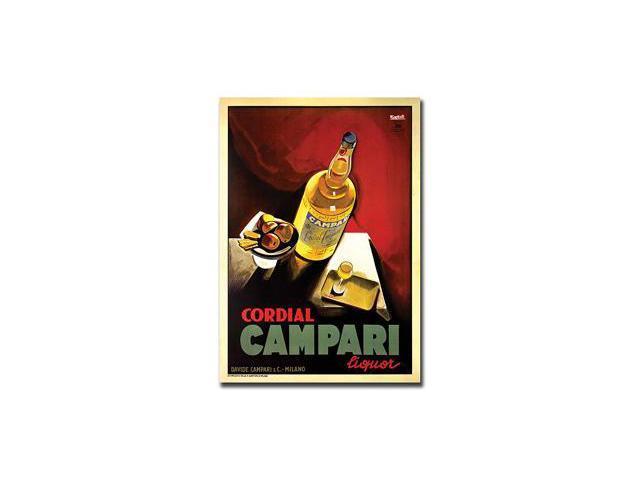 Cordial Campari Liquor-Gallery Wrapped 18x24 Canvas Art