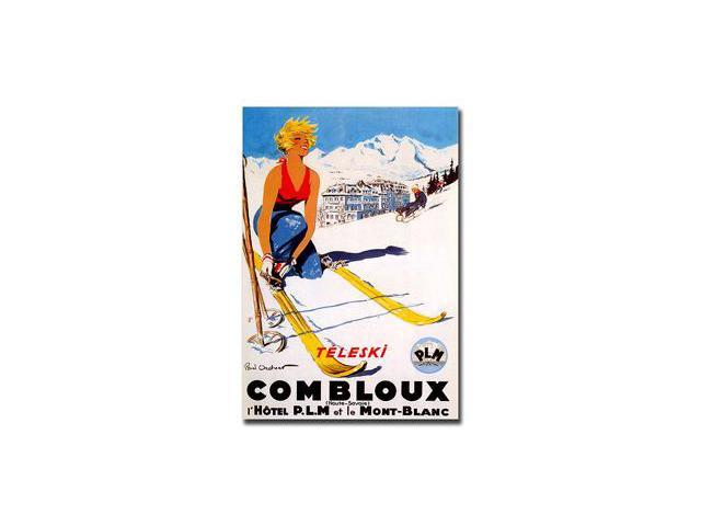 Combloux by Paul Ordner-Gallery Wrapped 24x32 Canvas Art