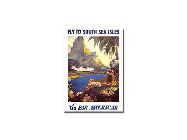 South Sea by Paul Lawler-Gallery Wrapped 18x24 Canvas Art