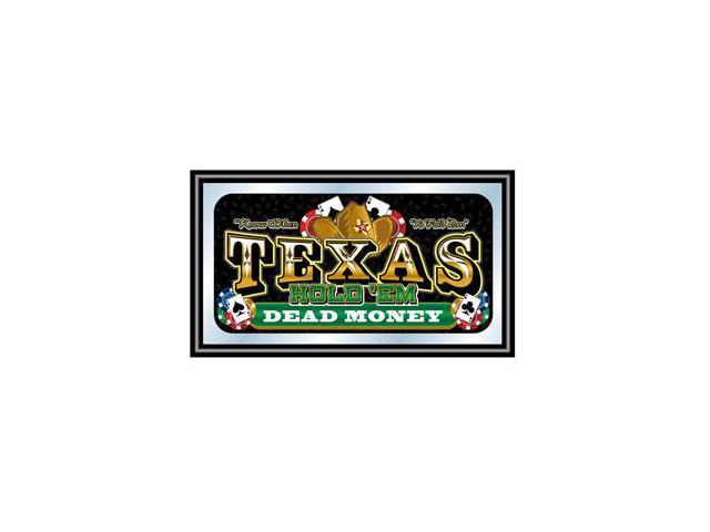 Framed Texas Holdem Wall Mirror - Dead Money