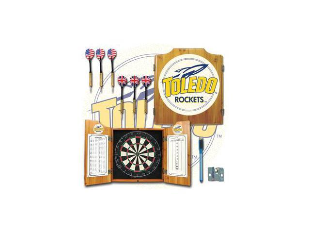 University of Toledo Dart Cabinet with Darts and Board