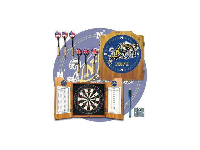 United States Naval Academy Dart Cabinet w/ Board & Darts