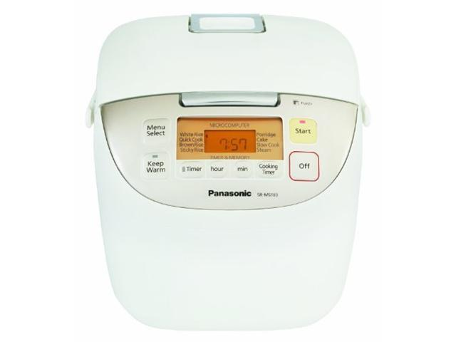 Panasonic SR-MS183 White w/ stainless trim Microcomputer Controlled Fuzzy Logic 10 Cups (Uncooked)/20 Cups (Cooked) Rice Cooker