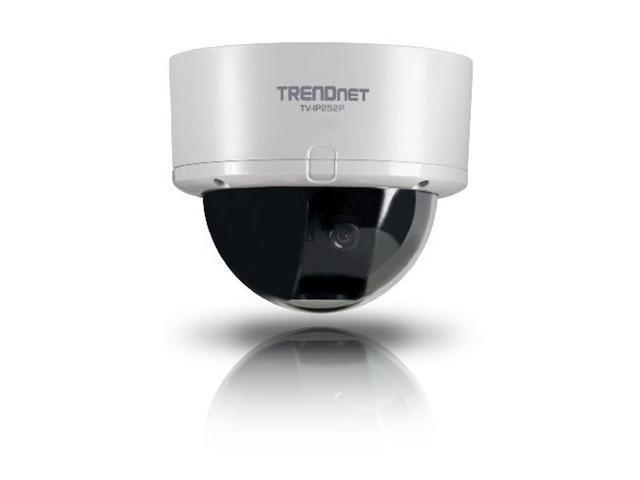 TRENDnet Dome Wired IP Camera with 2-Way Audio / 62 degree viewing angle / MAX Resolution 640x480 (TV-IP252P)