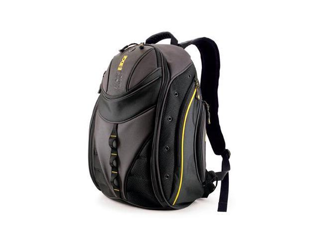 "Mobile Edge Black / Yellow Express Laptop Backpack - 16"" PC/17"" MacBook Model MEBPE4"