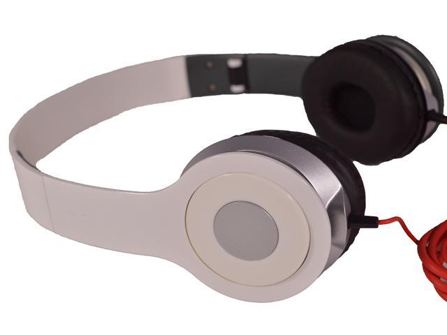 White DJ Style Stereo Over Ear Headphones with Quality Sound for 3.5mm Jack