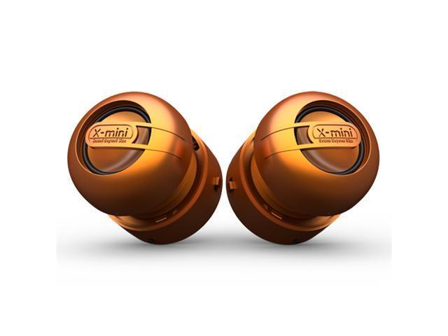 X-Mini MAX XAM15-OR Stereo Capsule Speaker System w/Ceremic Driver - Orange