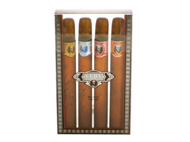 Cuba by Cuba for Men - 4 PC Gift Set 1.17oz cuba gold,1.17oz cuba blue, 1.17oz cuba red, 1.17oz cuba orange