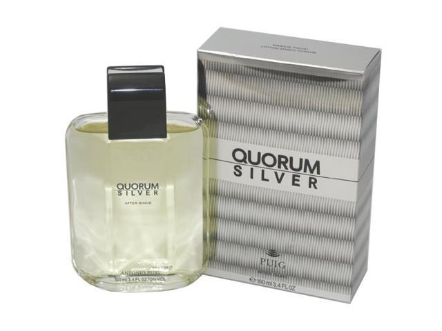 QUORUM SILVER by Antonio Puig AFTERSHAVE 3.4 OZ for MEN