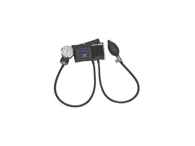 MABIS Legacy Aneroid Sphygmomanometer, Black Nylon Cuff, Large Adult