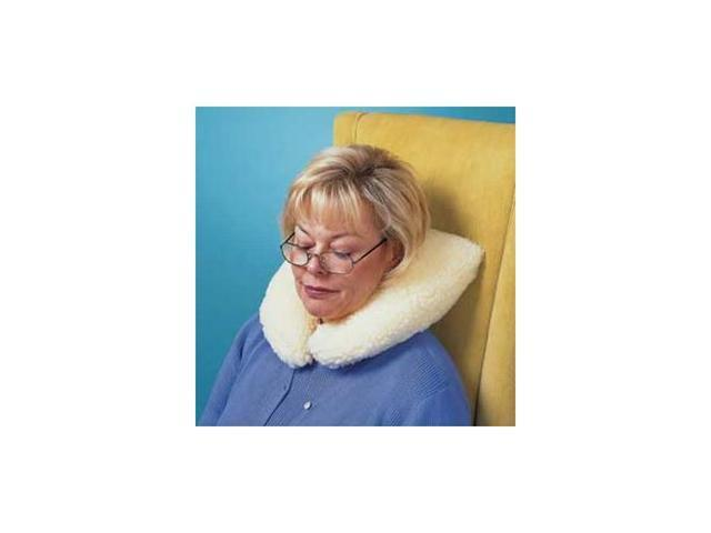 Neck Pillow With Imitation Sheepskin Zippered Cover, One size fits all, Sold in one each