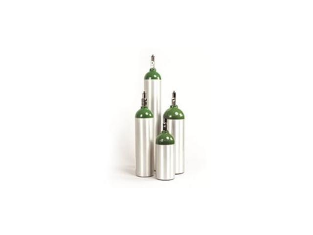Model 217 D Size, Aluminum Oxygen Cylinder with CGA 870 post valve and on/off toggle.