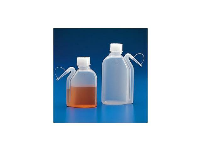 Wash Bottle, Squeeze with Integral Molded Dispensing Tip, Screwcap, PE, 500mL