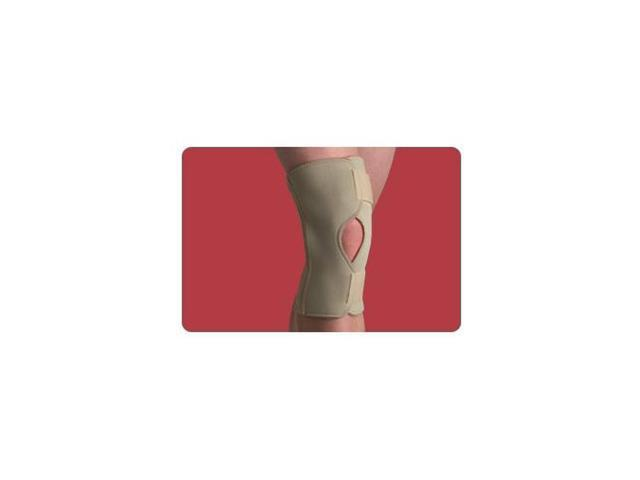 Thermoskin Open Knee Wrap Stabilizer, Knee Brace, Beige, Large