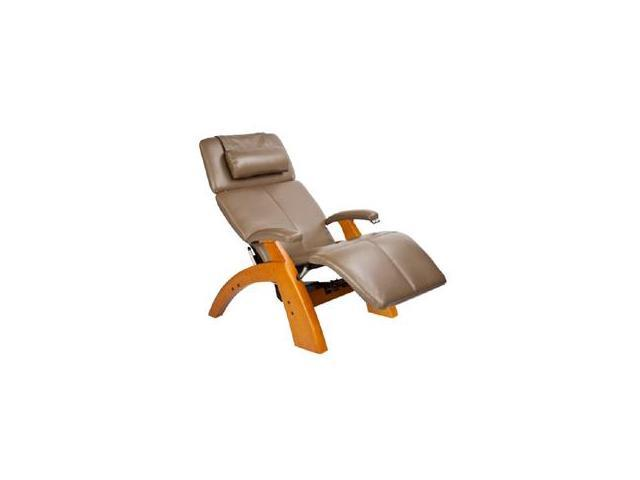 PC-075 Perfect Chair&#0174  Silhouette Zero-Gravity Recliner with Maple Base, Cashew Bonded Leather