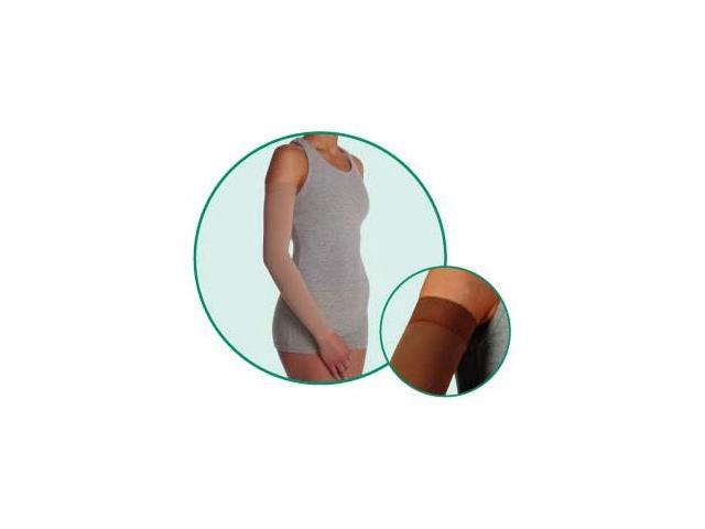 SoftSleeve, model: 2001, Long, Silicone Border, color: Chocolate, 20-30mmHg, size III