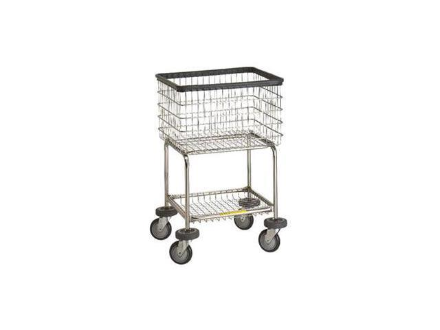 Deluxe Elevated Laundry Cart, basket color: Chrome