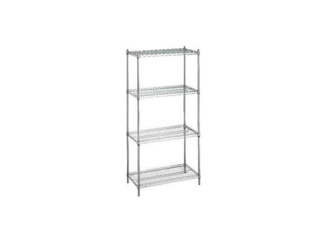 Shelving Unit 24x48x72 (w/o Casters), 4 Wire Shelves
