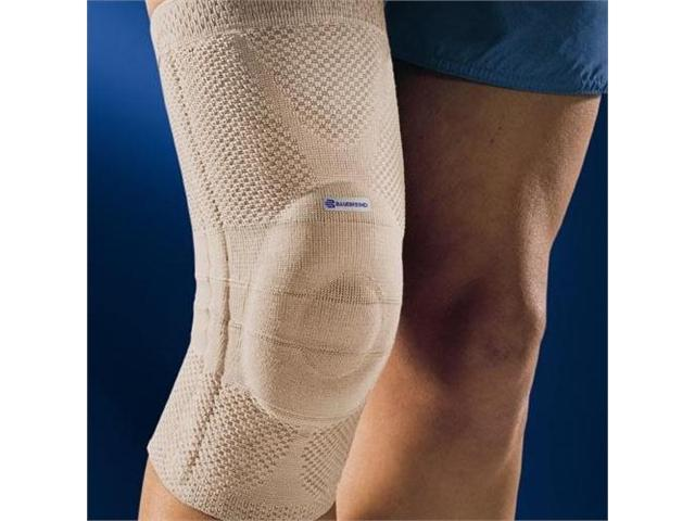 Bauerfeind GenuTrain Knee Support, Loose Circumference in Inches- 145/8 - 153/4 , 5 above knee - 181/2 - 193/4 ,Color Nature