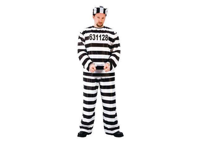 Mens Prisoner Costume - Jailbird Prisoner Convict