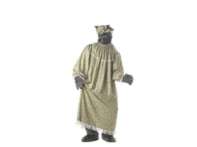 Big Bad Wolf Granny Adult Mens Halloween Costume