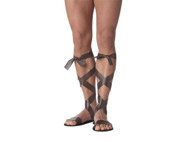 Roman Sandals Costume Mens - Brown