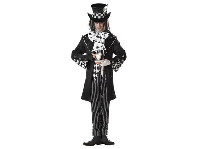 Dark Mad Hatter Mens Gothic Halloween Costume