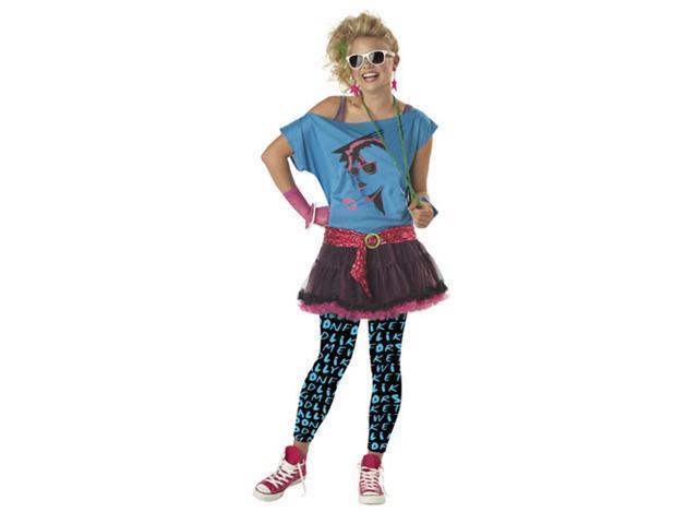Tween Kids 80s Punk Rock Star Graffiti Outfit Girls ...
