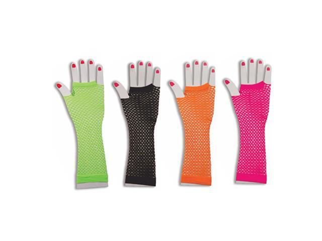 80's Fishnet Gloves - 80's Long Neon Gloves