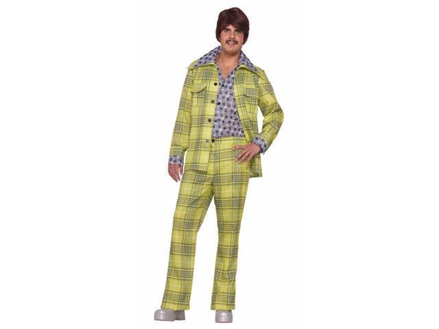 Mens Plaid Suit - 1970'S Green