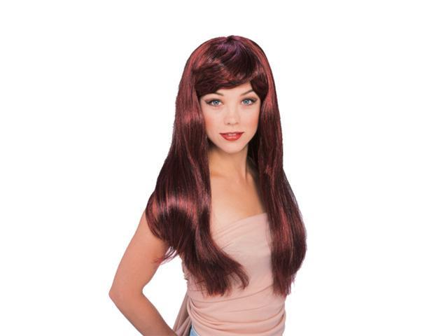 Dark Auburn Glamour Wig - Womens